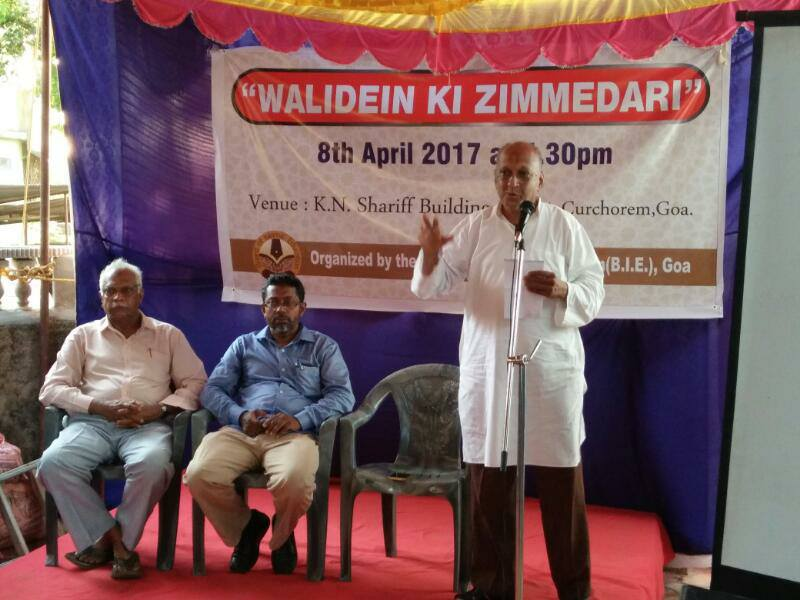 "BIE Organises program on ""Walidein Ki zimmedari"" at Savordem"