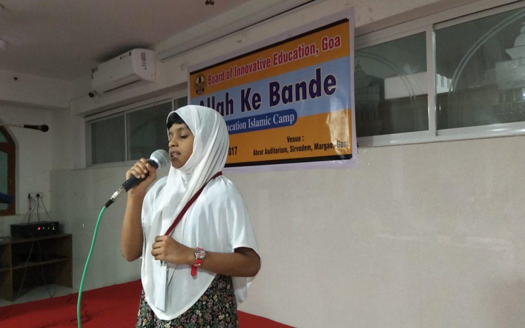 Allah ke Bande Vacation camp for Level 2 & Level 3 students